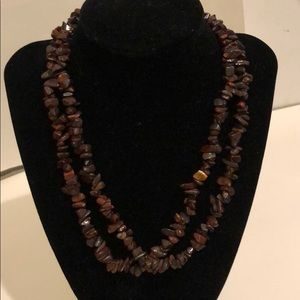 Natural gemstone beads necklace